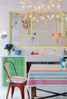la maison petit pan by Hidden In France Rainbow Kitchen, Rainbow Room, Interior Windows, Interior And Exterior, Deco Pastel, Sweet Home, Interior Styling, Interior Design, New Wall