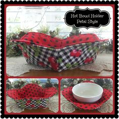 (9) Name: 'Sewing : 1 Hour Hot Bowl Cozy Holder~ Petal Style