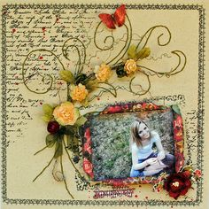 "Journey...""My Creative Scrapbook"" - Scrapbook.com - #scrapbooking #layouts #creativeimaginations #prima"