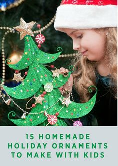 Form new, family holiday memories by creating any or all of these 15 DIY holiday ornaments. Kids will love making them and they can be made from sticks, bottle caps and even pinecones!