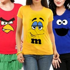 Pack of 3 - Angry Bird, M&M & Cookie T-shirts for Women M M Cookies, Deal Today, T Shirts For Women, Bird, Tops, Fashion, Moda, Fashion Styles, Birds