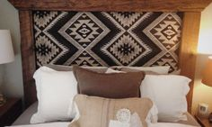 We love a good DIY project. Get inspired to try a DIY southwest fabric project this weekend and give your space a boost. Let your creativity shine on! Reclaimed Wood Frames, Timber Frames, Southwest Decor, Southwest Bedroom, Western Decor, Western Rooms, Western Bathrooms, My New Room, Home Bedroom