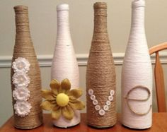 Ucycled Glass Beer Bottles LOVE wrapped in by StacysHappyPlace