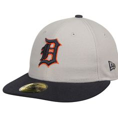 4b5a5de7d59 Detroit Tigers New Era 2T Patched Low Profile 59FIFTY Fitted Hat - Gray  Flat Color
