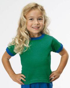 Rabbit Skins 3380 Toddler Ringer T-Shirt