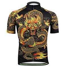 2016 Mens Cycling Jerseys Shirts Breathable Quick Dry Jacket Sportswear Short Sleeves Suit Aogda Team Cycling TShirt Clothing Yellow Jerseys XL * Continue to the product at the image link.