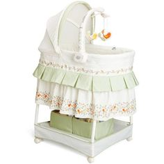 Delta Sweetest Birds Gliding Bassinet with Mobile