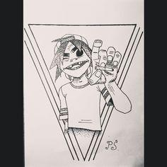 #эскиз #тату #графика #горилаз #дотворк #чб #sketch #gorillaz #dotwork  #graphic #bw #tattoo