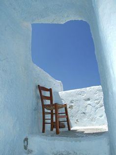 Serifos, Greece Here's that Greek blue and white again. So simplistic a photo yet so full of life.
