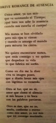 """Breve romance de ausencia"" Salvador Novo"