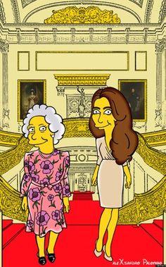 Kate Middleton e Rainha Elizabeth são transformadas em personagens de Os Simpsons (Foto: AleXsandro Palombo) - http://epoca.globo.com/colunas-e-blogs/bruno-astuto/noticia/2014/08/bkate-middletonb-e-brainha-elizabethb-sao-transformadas-em-personagens-de-os-simpsons.html