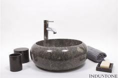 DN-P GREY A 40 cm kamienna umywalka nablatowa INDUSTONE - InduStone