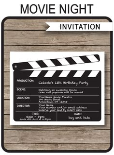 """... Results for """"Movieticket Invitation Template"""" – Calendar 2015"""