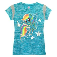 My Little Pony Girls' T-Shirt Turquoise L, Girl's, Size: Large