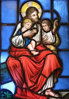 The stained glass window was photographed inside St. Mary's Church, Denville, NJ. Photo Copyright 2008 Loci B. Lenar