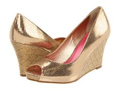 Lilly Pulitzer Resort Chic Wedge Golden Metallic - Zappos.com Free Shipping BOTH Ways  $228