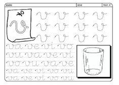Grafismos de las letras - Secretos Marlove Hand Lettering Practice, Homeschool, Math Equations, Words, Montessori, Google, Literacy Activities, Writing, Alphabet