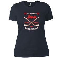 Detroit Hockey Sports Fan So Long Joe T-shirt Detroit Hockey, Boyfriend Tee, Sports Fan Shop, Custom Made, Tees, Mens Tops, T Shirt, Shopping, Design