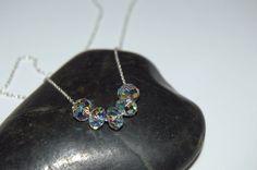 Carrie necklace Swarovski crystal ab Carrie by SilverIrisJewelry