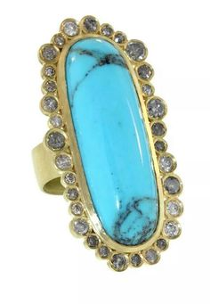 L Frank turquoise and diamond ring