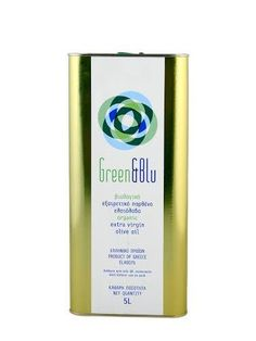 ''GREEN N BLU'' Organic Extra virgin olive oil 5 L Balsamic Vinegar, Vodka Bottle, Olive Oils, Organic, Drinks, Green, Drinking, Beverages, Olive Oil