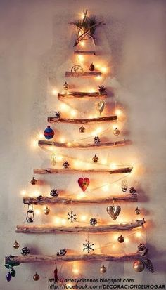 Árbol de Navidad Pegado en la Pared