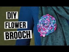 From this tutorial you will learn how to design the textile handmade brooch in a form of a rose from pieces of floral patterned fabric! #diybrooch #flowerbrooch #jewelry