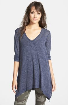Love this v-neck tunic with the camo pants, but also great with regular denim jeans AND leggings!