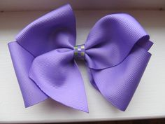 Lavender Boutique Bow purple toddler bowcheer by BusyBellaBoutique, $4.00