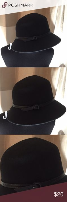 NWT - Nine West 100% Wool Hat Never been worn. Black hat with black trim around the base of the hat. Comes from a smoke free home. Nine West Accessories Hats