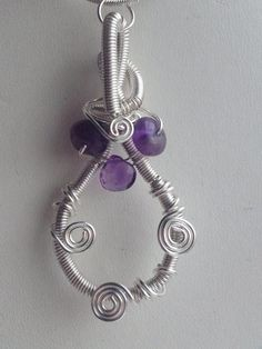 A beautiful example of wire wrapped jewelry