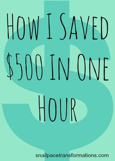 One of the best ways to save money can really add up fast. (psst...it is not couponing)
