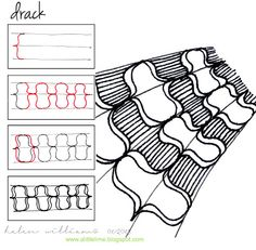 """""""Drack"""" by Helen Williams (Aus.)some more curly bracket lovin'"""