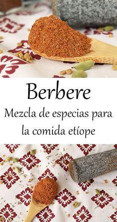 Berbere {Etiopía y Eritrea} - Copy Tutorial and Ideas Crab Cakes, Spice Mixes, Garam Masala, Sin Gluten, Kitchen Recipes, Food Truck, Food Hacks, Spices, Food And Drink