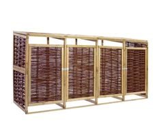 IN STOCK: best prices on Quadruple Bin Shed Pinewood and Wicker - choose between 11 Dustbin screen Garden Dining Set, Garden Chairs, Shed Storage, Storage Bins, Bin Shed, Le Hangar, Roof Shapes, Waste Container, Style Rustique