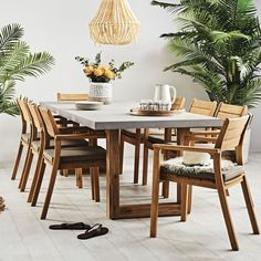 Marson Table 2400mm with 6 x Haven Stacking Chairs Package - Urban Collection - Shop by Collection - Outdoor