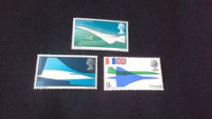 Royal Mail stamps a Set of 1969 postage Stamps First Flight Of Concorde by brianspastimes on Etsy