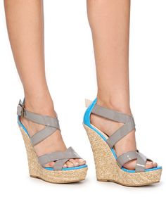 Patent Crisscross Wedges from Forever 21 [only $24]