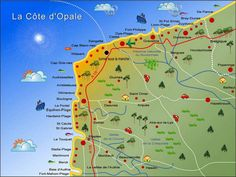 Carte de la cote d'opale   beautiful scerny in 2019   Nord ...