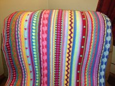 mixed stripes afghan ~ PATTERN