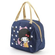 d2a6705f00ee Portable Japanese Girl Large Insulated Bento Box Bento Kids
