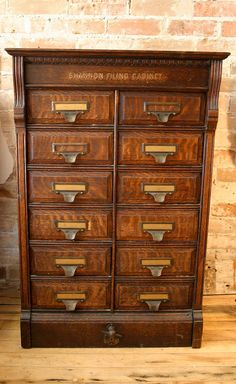 fancy antique oak filing cabinet by on etsy