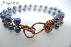 Braided Pearl Bracelet - Wire Wrapping - Braiding      From jennypong