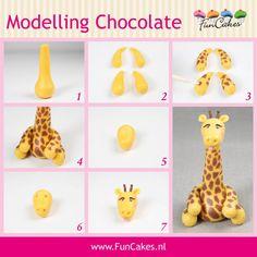 жираф из пластилина пошагово с картинками первая
