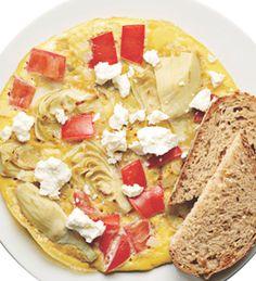 Tomato, Artichoke & Feta Frittata 1 egg 1 egg white Cooking spray 1/4 ...