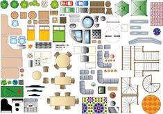 Furniture Plan Symbols - 2D Resources - ShareCG