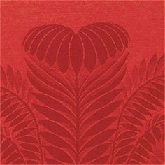 PALM DAMASK, Tomato, T9376, Collection Damask Resource from Thibaut