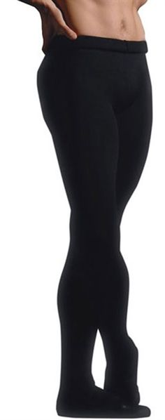 Capezio MT11 Mens Footed Tights. Male Dancers Footed Dance Tights available in Black and White. www.dancinginthestreet.com