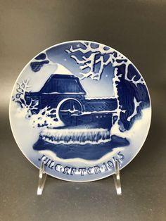 """1953 BING /& GRONDAHL B/&G CHRISTMAS PLATE  /"""" BOAT OF THE KING OF DENMARK /"""""""