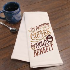 Embroidery Library: I'm Drinking Coffee For Your Benefit